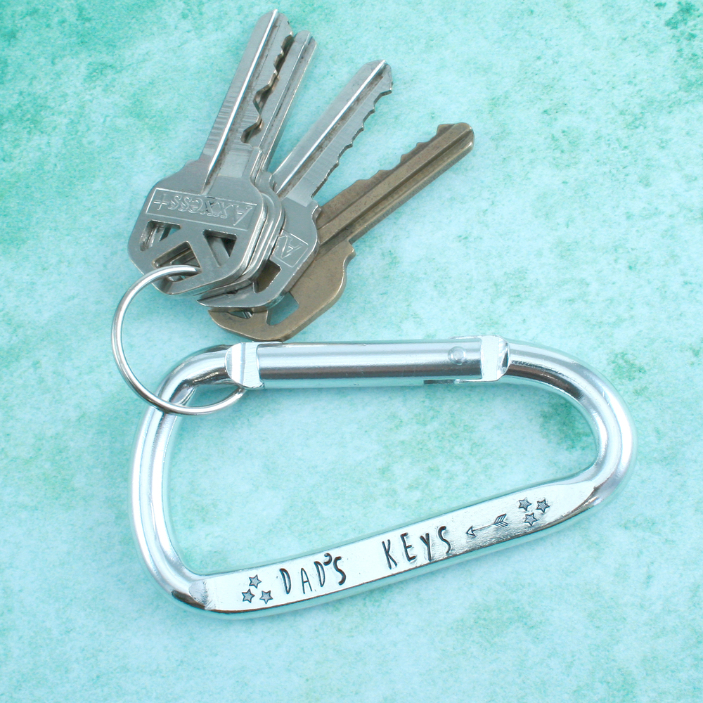 "Metal Stamping Blanks Aluminum Carabiner Keychain, 80mm (3.15"") x 43mm (1.7"")"