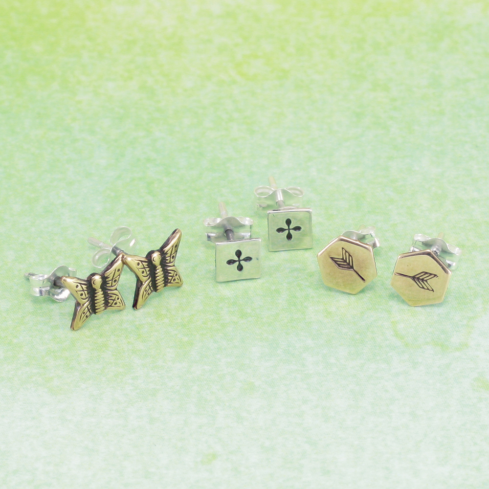 "Charms & Solderable Accents Sterling Silver Hexagon Solderable Accent, 6mm (.23"") x 5.8mm (.23""), 24g - Pack of 5"