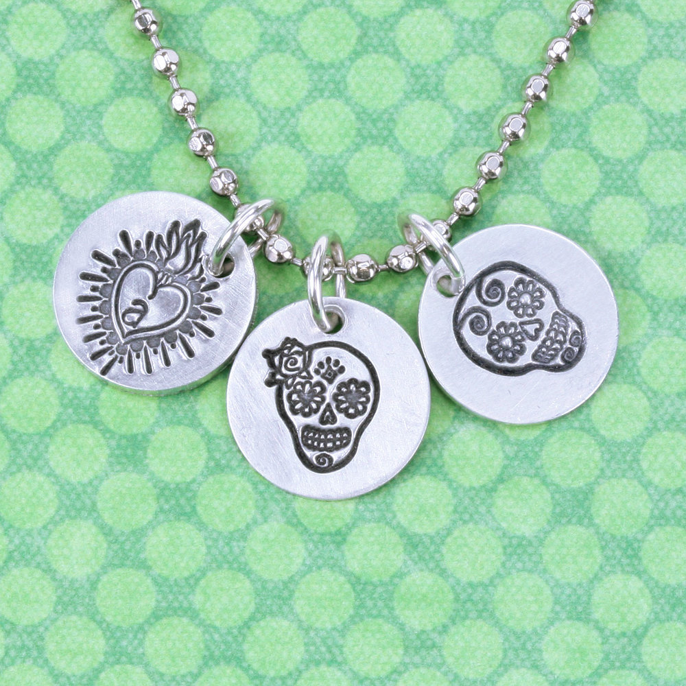 Metal Stamping Tools Sugar Skull Metal Design Stamp - Beaducation Original