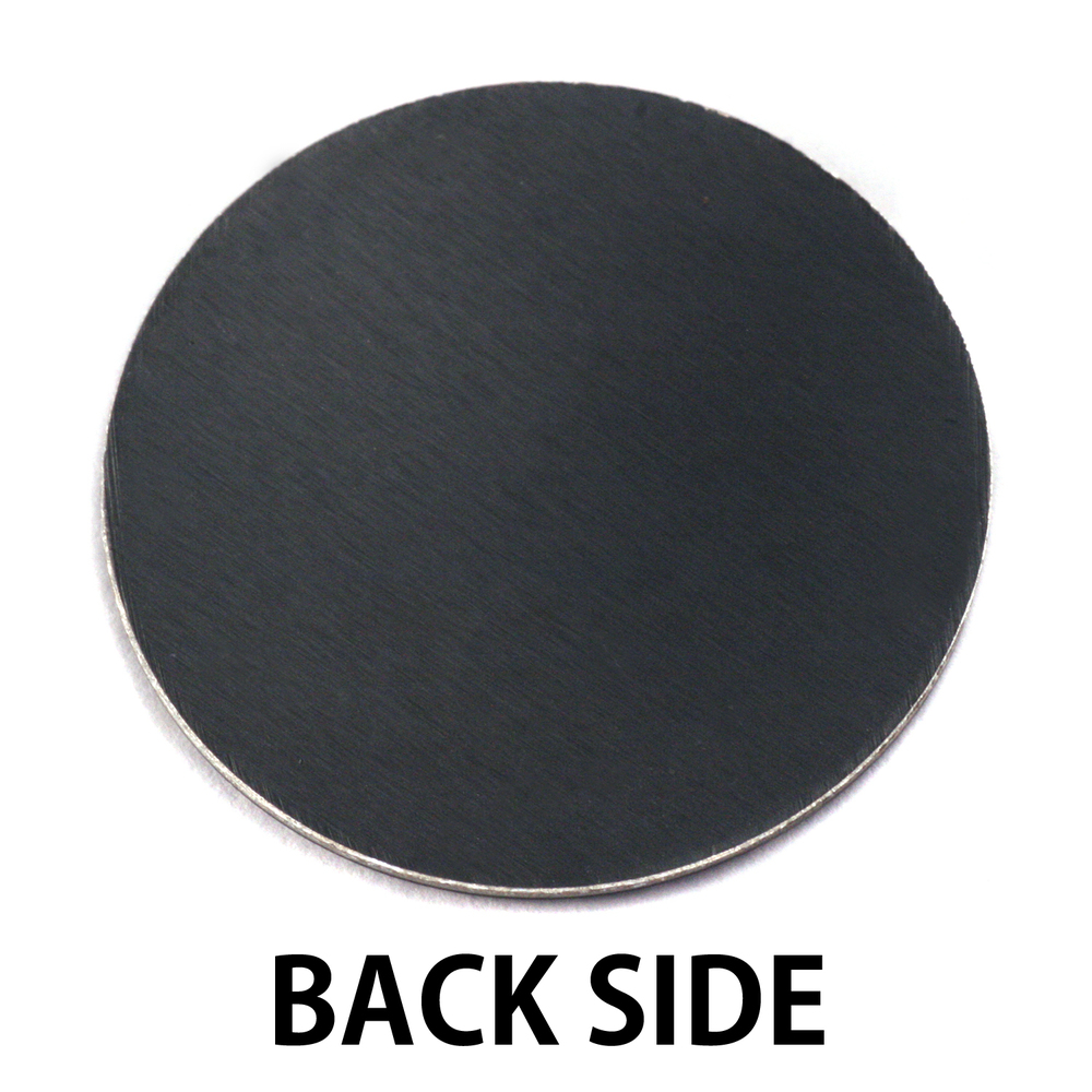 "Anodized Aluminum 1"" Circle, Black Design #9, 22g"
