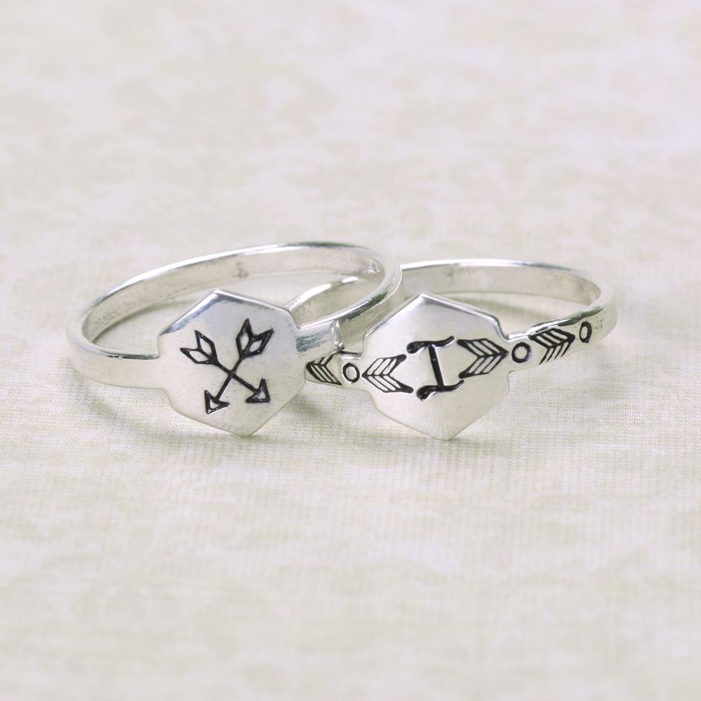 Metal Stamping Blanks Sterling Silver Hexagon Ring Stamping Blank, SIZE 6