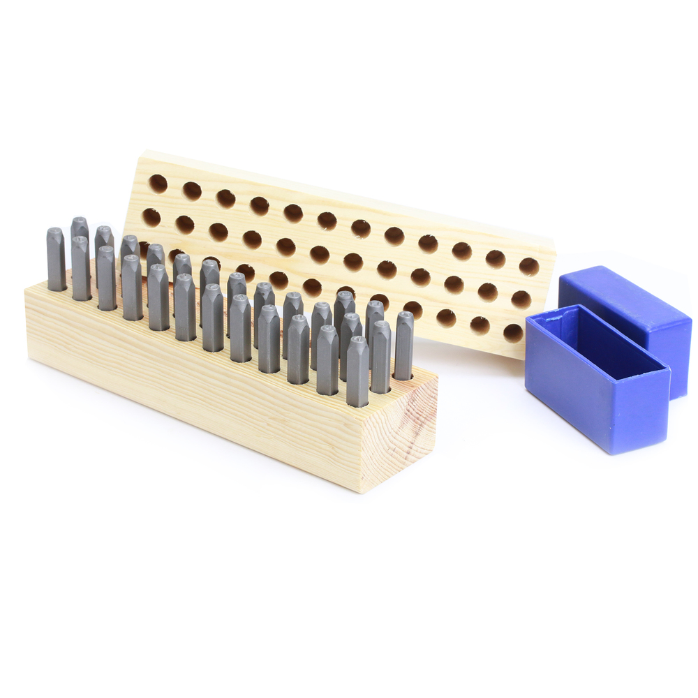 Metal Stamping Tools Letter Stamp Holder, 5mm Holes, 36 Holes, Top and Bottom