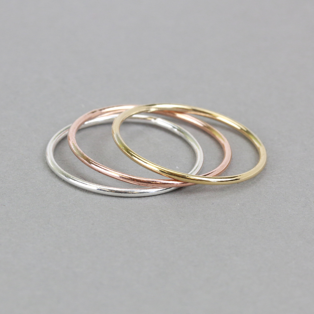 Metal Stamping Blanks Rose Gold Filled Stacking Ring, SIZE 9