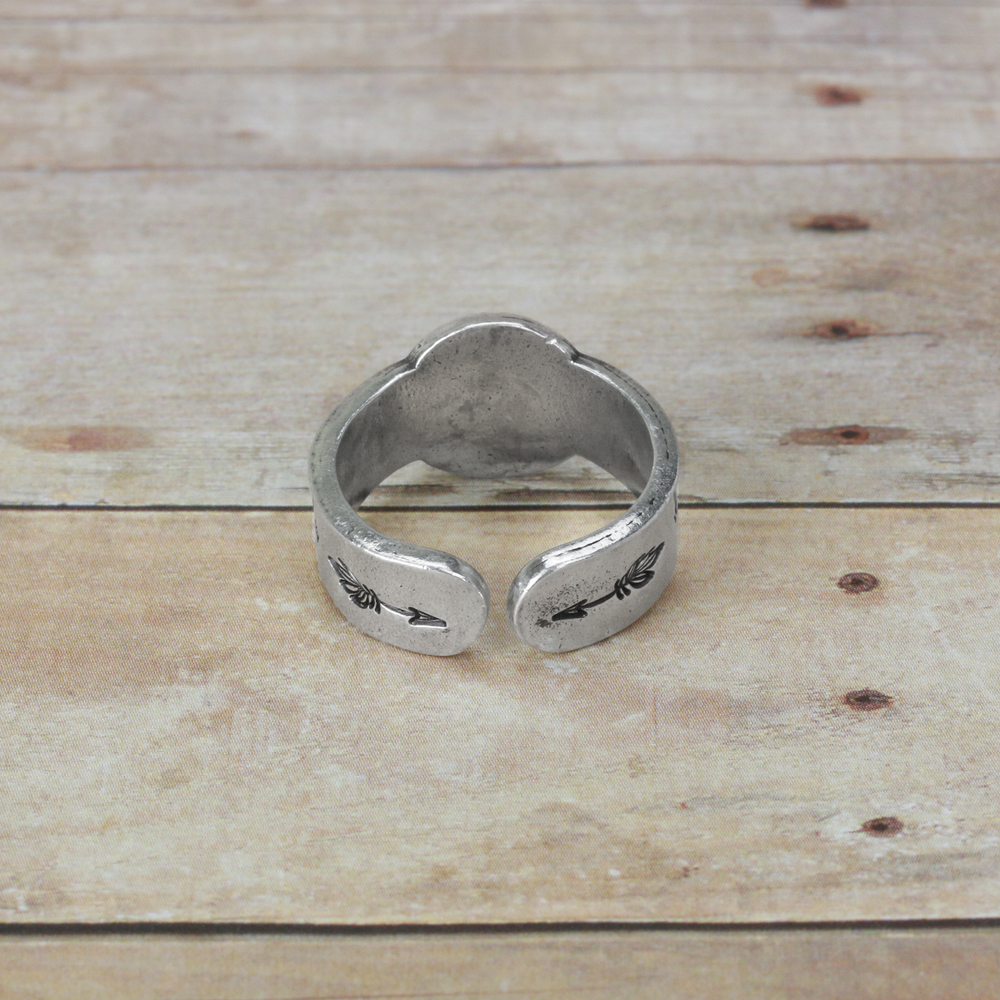 """Metal Stamping Blanks Pewter Flat Ring Blank with 12mm (.47"""") Circle, 63.5mm (2.5"""") - (SIZE 8.5-10)"""