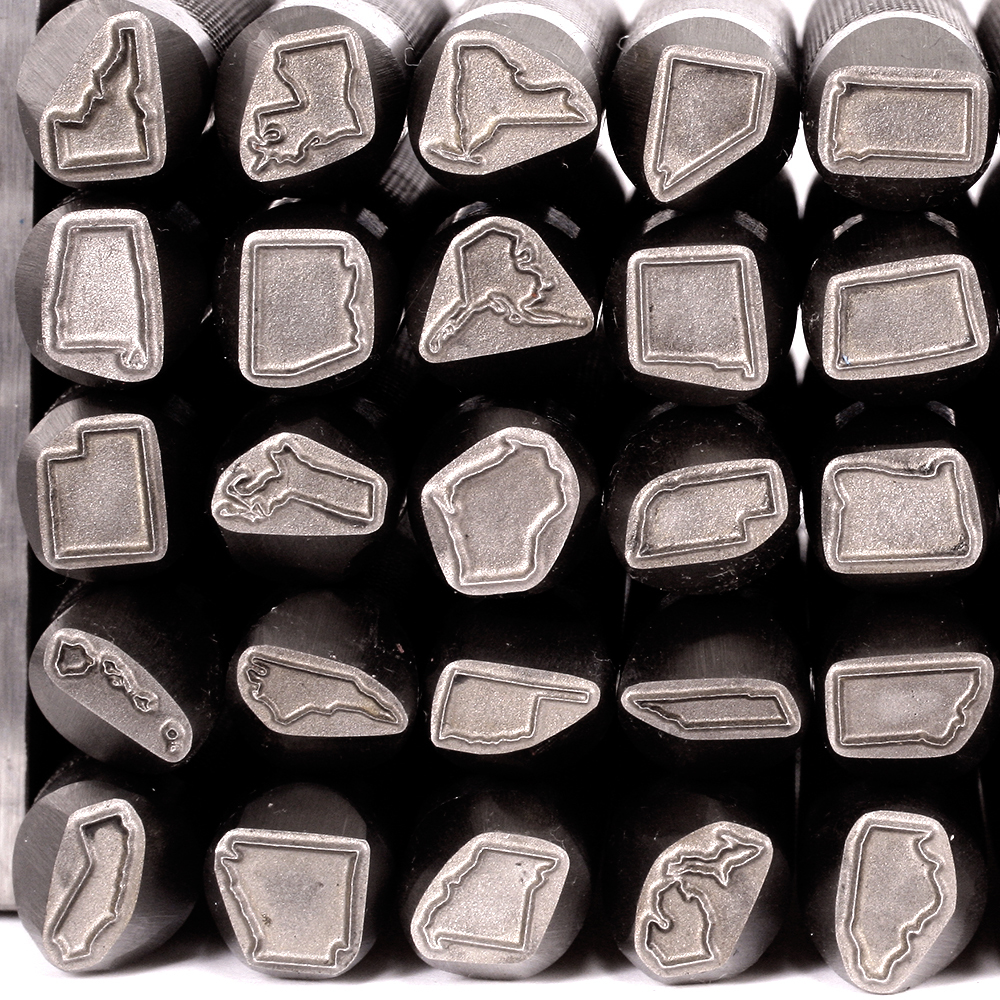 Metal Stamping Tools US State Design Stamp, 8mm - Alabama (Made to Order)