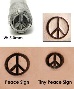Metal Stamping Tools Peace Sign Metal Design Stamp
