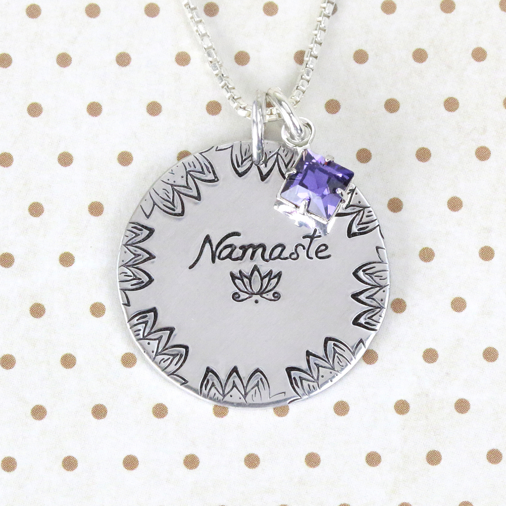 Metal Stamping Tools Namaste Lotus Metal Design Stamp, 10mm - Beaducation Original