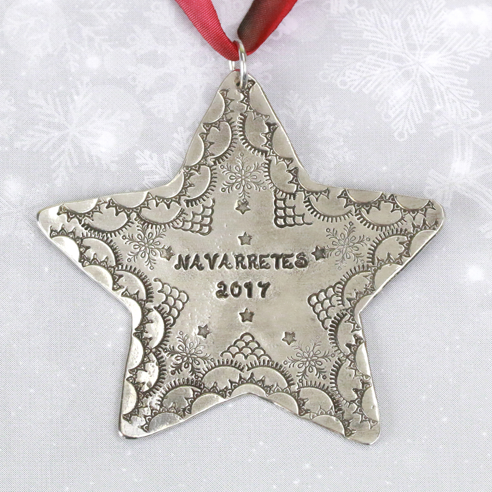 "Metal Stamping Blanks Pewter Star Ornament Stamping Blank, 61.6mm (2.4""), 16g"