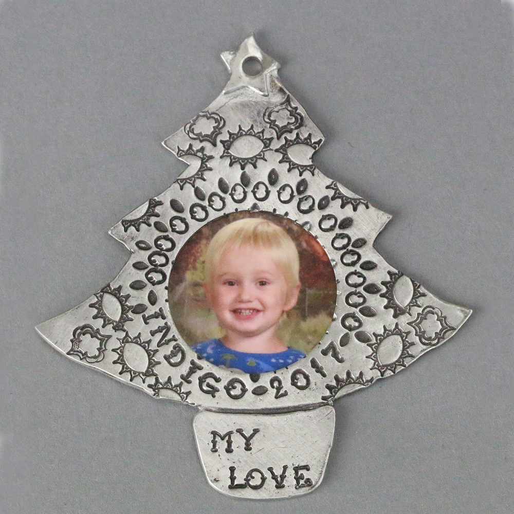 "Metal Stamping Blanks Pewter Full Christmas Tree Ornament Stamping Blank, 73.3mm (2.9""), 16g"