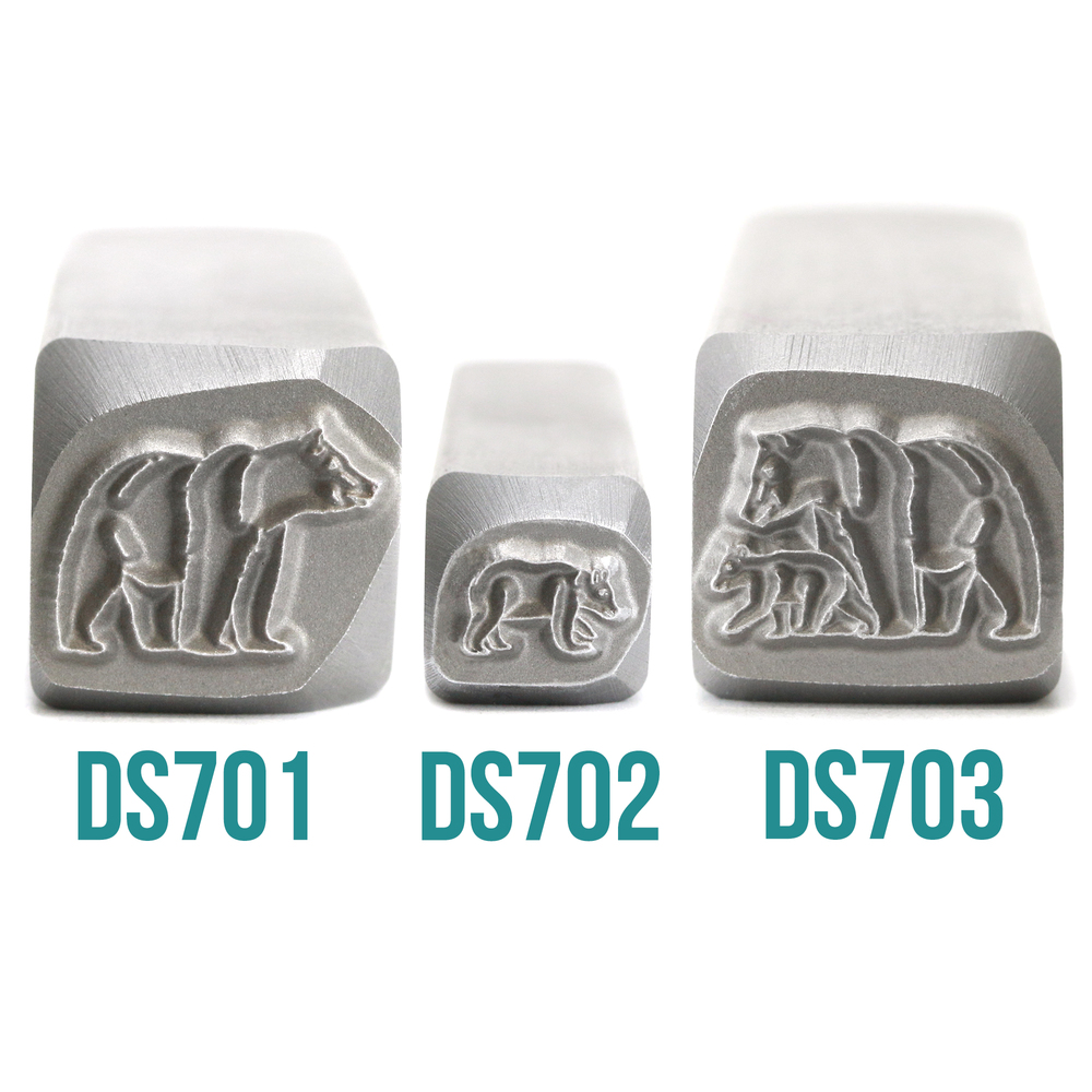 Metal Stamping Tools Baby Bear Walking Left Metal Design Stamp, 6.5mm - Beaducation Original