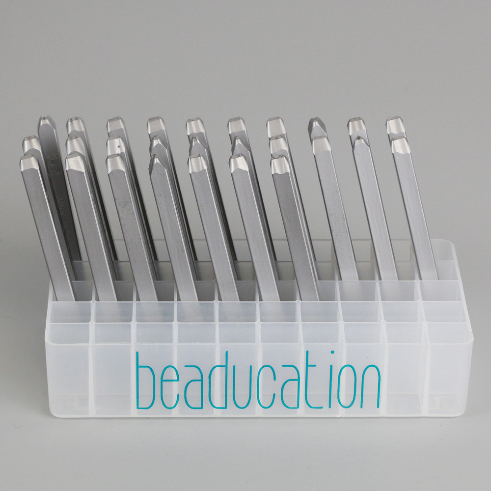 Metal Stamping Tools Beaducation Exact Series, Kismet Uppercase Letter Stamp Set 4.5mm, By Stamp Yours - Rated for Stainless