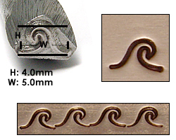 Metal Stamping Tools Wave Metal Design Stamp, 5mm