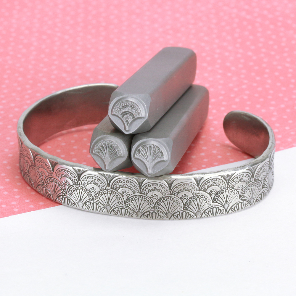 Metal Stamping Tools Fan 2, Whimsical Metal Design Stamp - Beaducation Original