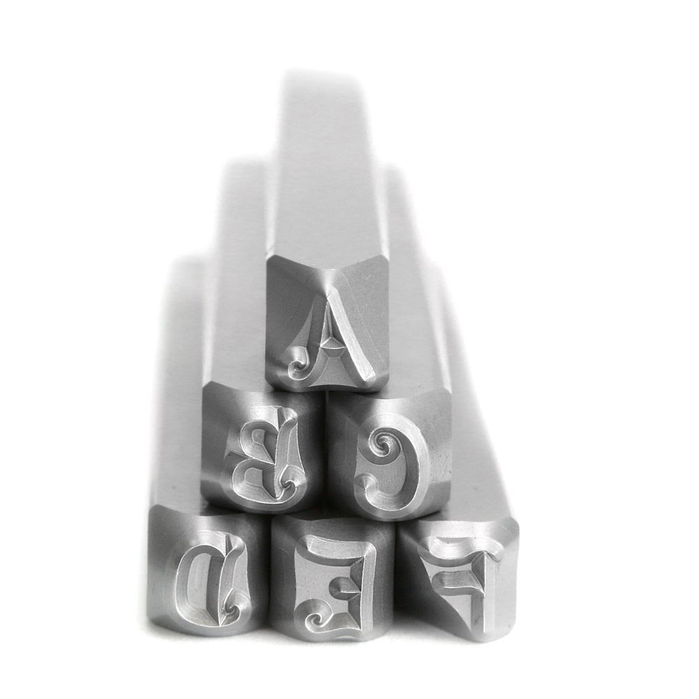 Metal Stamping Tools Beaducation Kismet Uppercase Letter Stamp Set 4.5mm, By Stamp Yours - Rated for Stainless