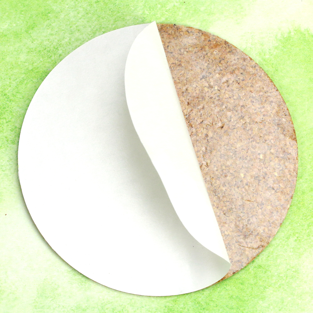 "Metal Stamping Blanks Cork Pad with Sticky Backing for 4"" Aluminum Circle Coaster"