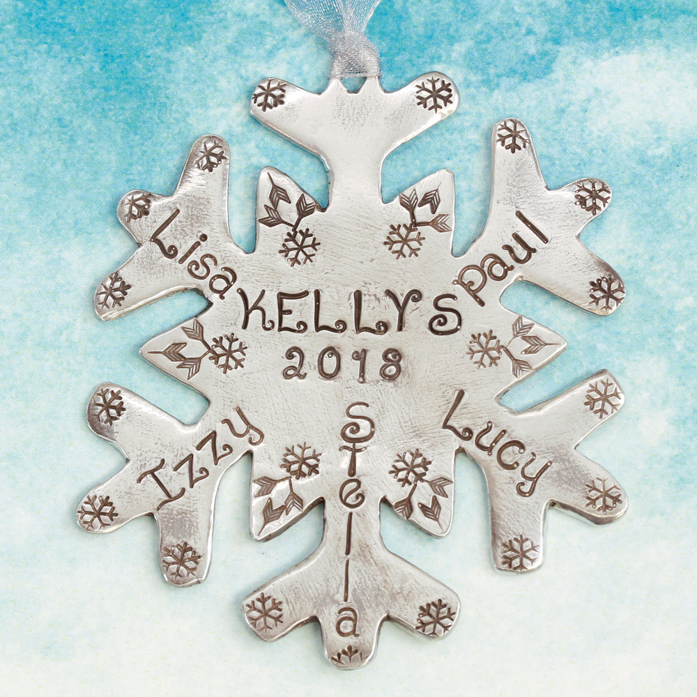 Metal Stamping Tools Simple Snowflakes Metal Design Stamps, 3mm and 4mm - Beaducation Original