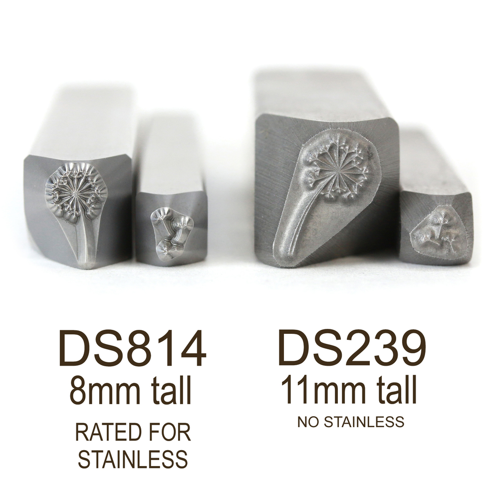 Metal Stamping Tools Dandelion & Fluff Flower Metal Design Stamps, 8mm - Rated for Stainless, Beaducation Exact Series by Stamp Yours