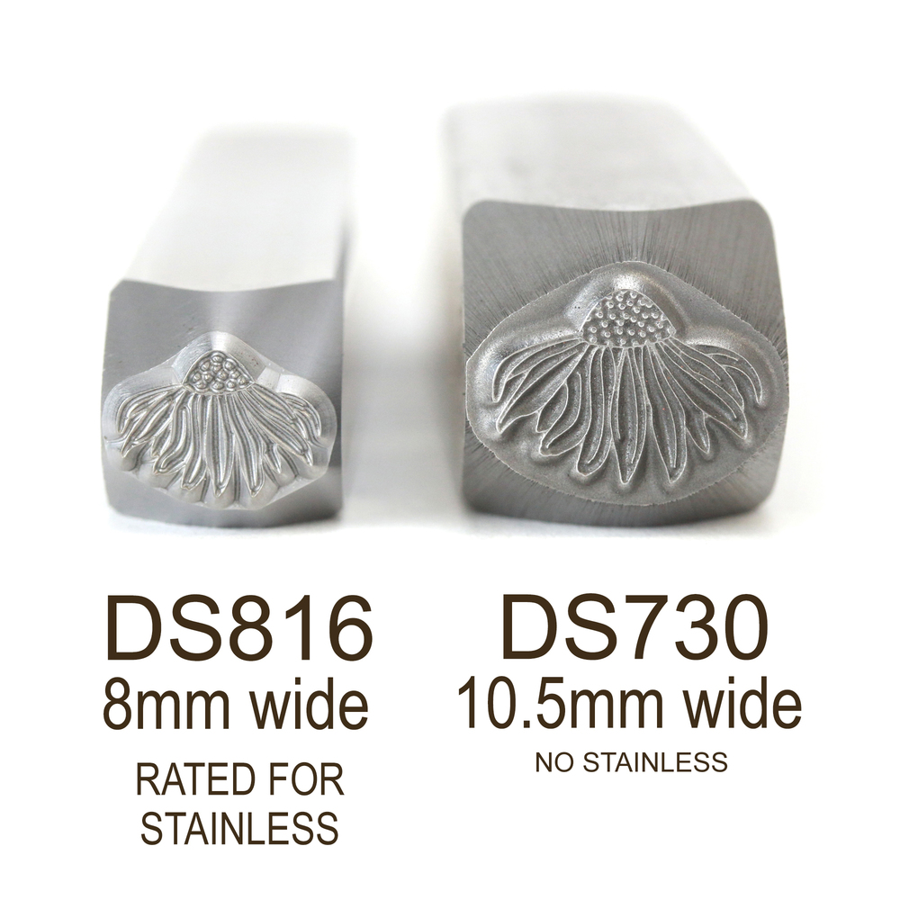 Metal Stamping Tools Echinacea Flower Metal Design Stamp, 8mm - Rated for Stainless, Beaducation Exact Series by Stamp Yours