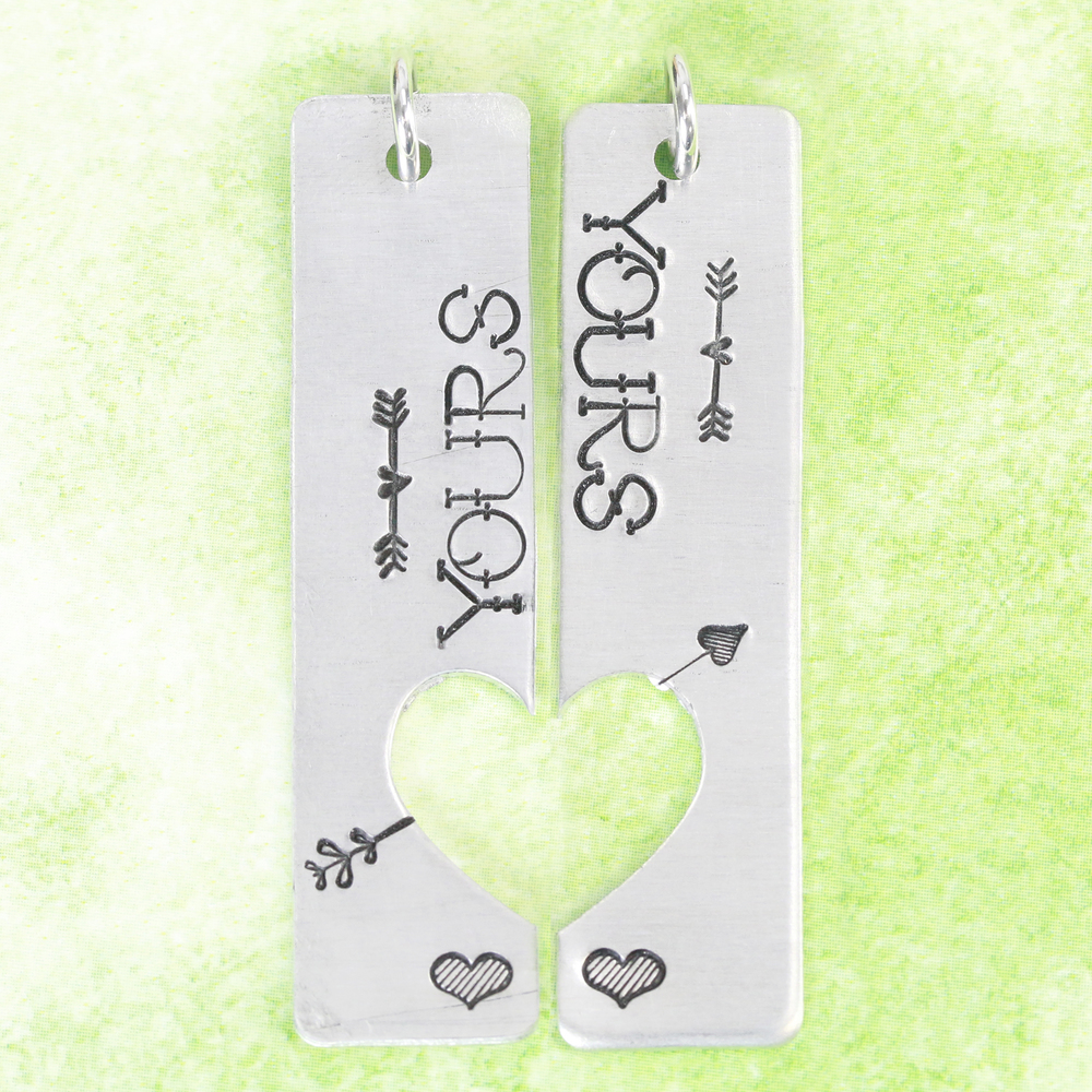 Metal Stamping Tools Fat Lined Heart Metal Design Stamp 2.5mm- Beaducation Original