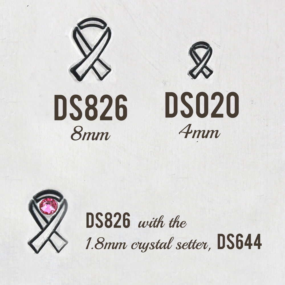 Metal Stamping Tools Awareness Ribbon Metal Design Stamp, 8mm - Beaducation Original