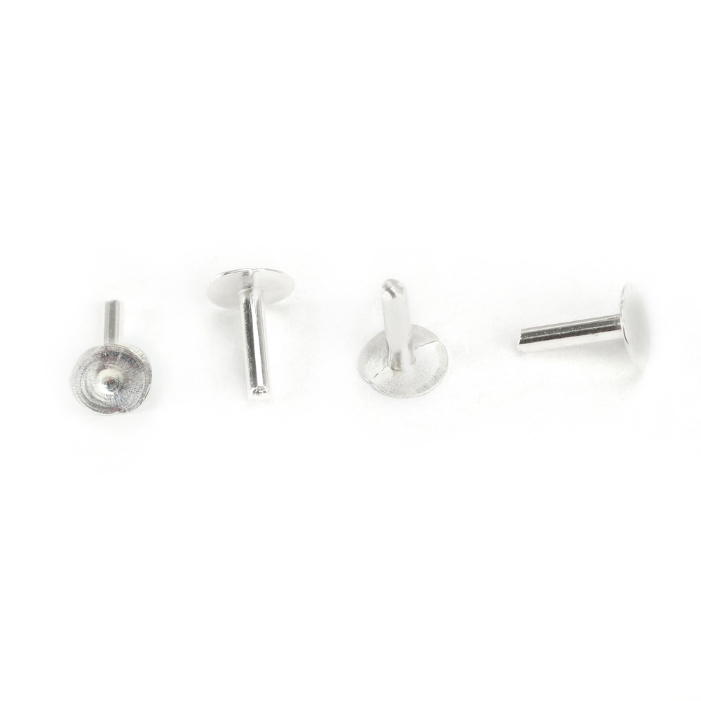 "Rivets and Findings  Sterling Silver Nail Head 1/20"" Rivets, 1/4"" Long, Pack of 20"