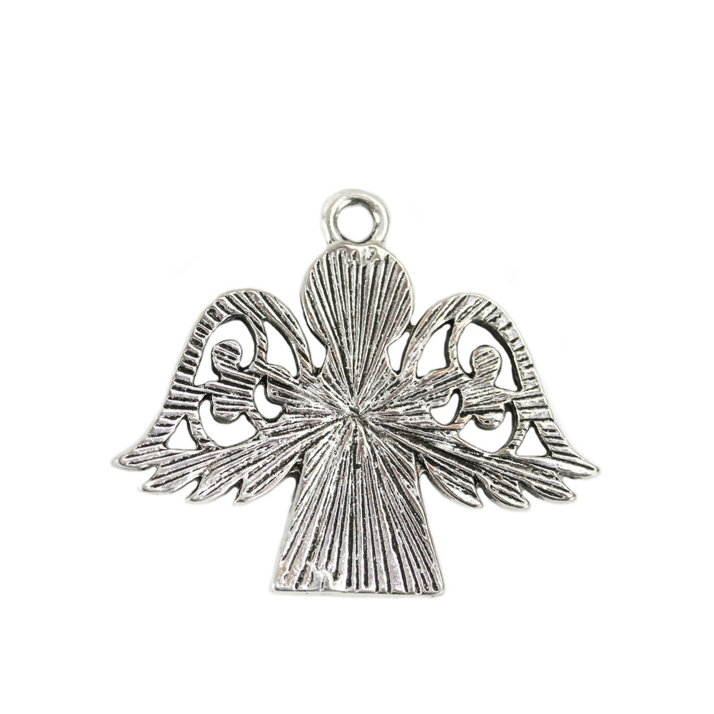 Charms & Solderable Accents Base Metal Angel Charm, Pack of 10