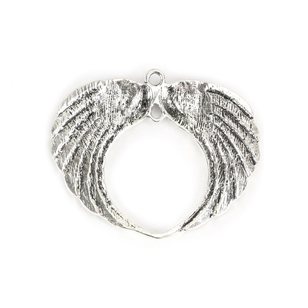 Charms & Solderable Accents Wide Large Wings Charm, Pack of 2