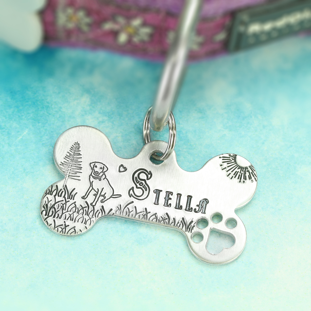 Metal Stamping Tools Tall Heart Metal Design Stamp 1.5mm - Beaducation Original