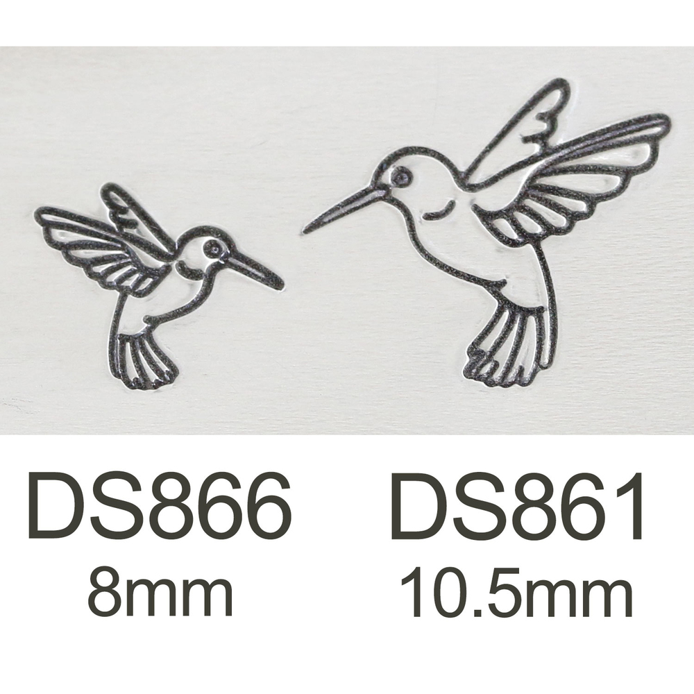 Metal Stamping Tools Hummingbird Metal Design Stamp, 10.5mm - Beaducation Original