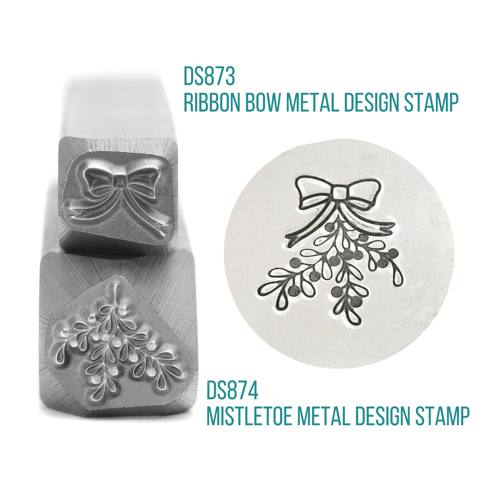 Metal Stamping Tools Ribbon Bow Metal Design Stamp, 7.5mm - Beaducation Original