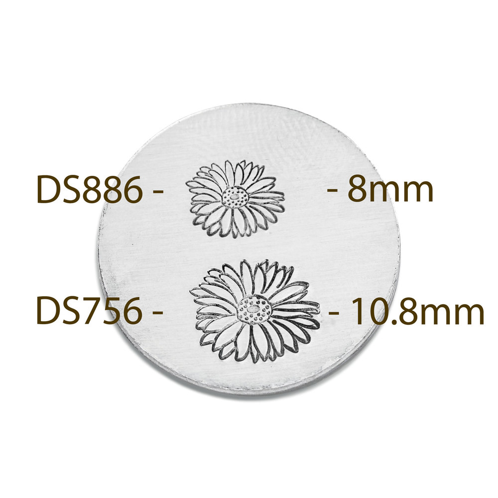 Metal Stamping Tools Gerbera Daisy Metal Design Stamp, 8mm - Beaducation Original