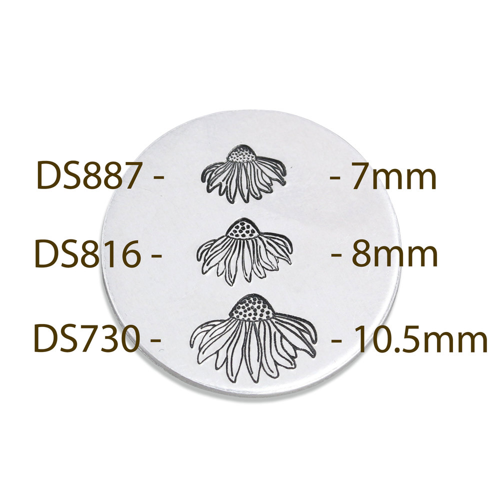 Metal Stamping Tools Echinacea Flower Metal Design Stamp, 8mm, Beaducation Exact Series by Stamp Yours