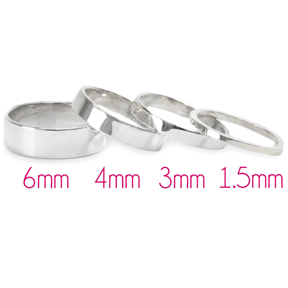 Metal Stamping Blanks Sterling Silver Ring Stamping Blank, 1.5mm Wide, SIZE 4, *PLEASE READ PRODUCT NOTE