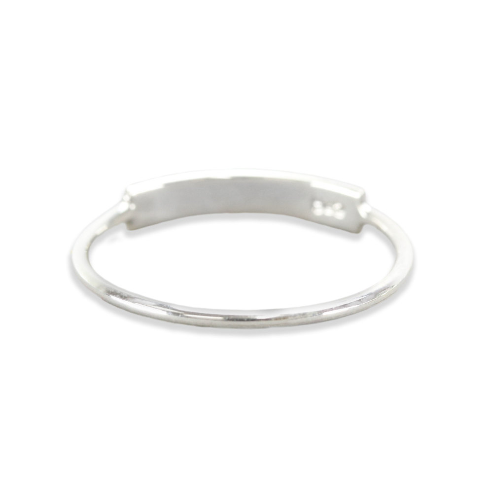 Metal Stamping Blanks Sterling Silver Thin Tab Ring Stamping Blank, SIZE 5.5, *PLEASE READ PRODUCT NOTE