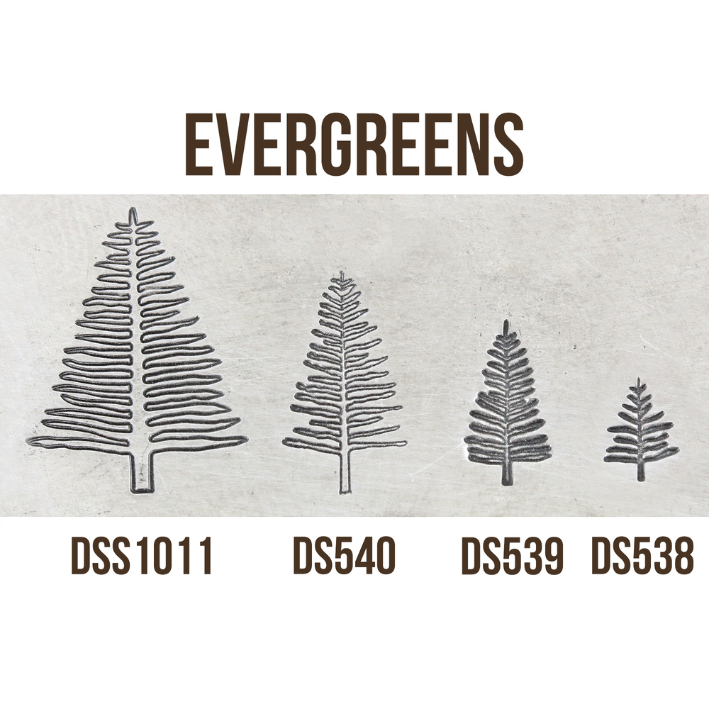 Metal Stamping Tools Medium Evergreen Tree Metal Design Stamp, 8mm - Beaducation Original