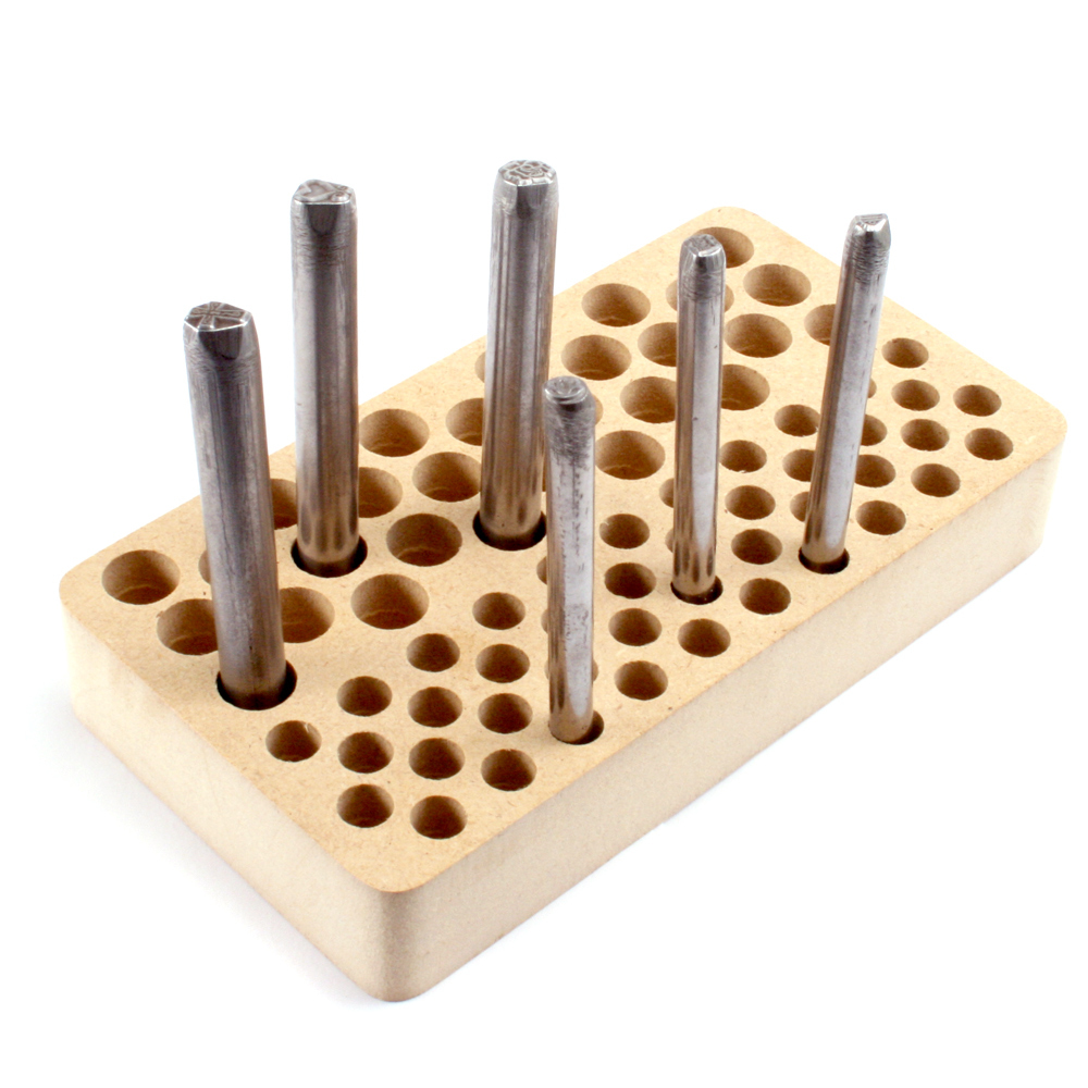 Jewelry Making Tools Design Stamp Holder, 8mm & 10mm Holes, 70 Holes