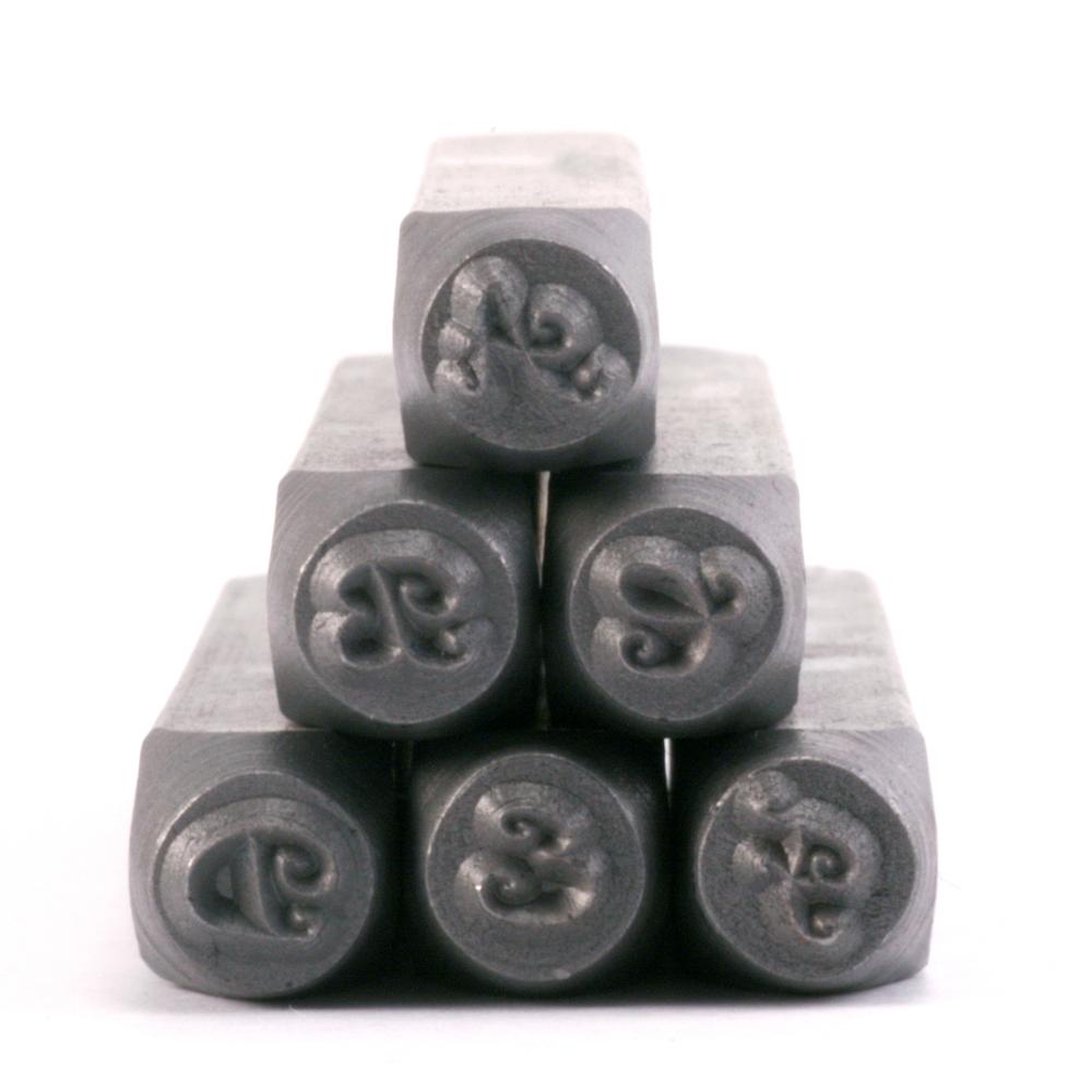 """Metal Stamping Tools ImpressArt Ballroom Boogie Uppercase Letter Stamp Set 1/8"""" (3.2mm)"""