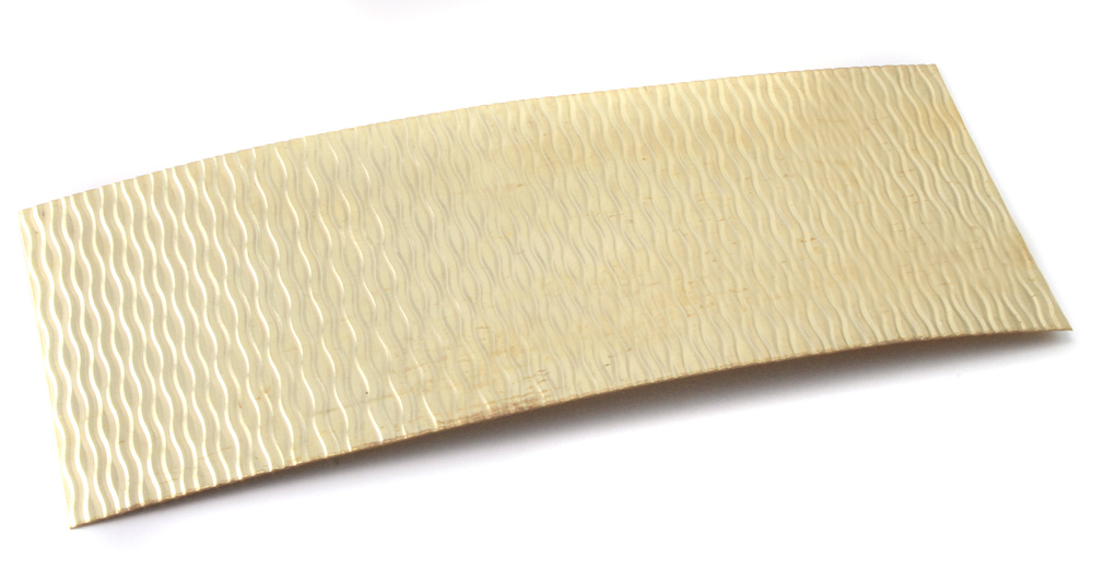 "Wire & Sheet Metal Patterned Brass 22g Sheet Metal, Backsplash, 2.5"" x 6"""