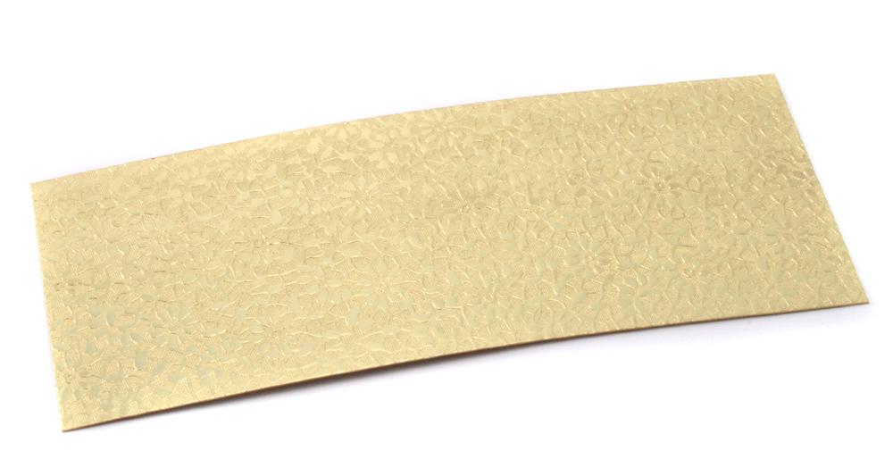 "Wire & Sheet Metal Patterned Brass 22g Sheet Metal, Daisy, 2.5"" x 6"""