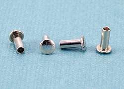 "Rivets,  Findings & Stringing Sterling Silver Hollow 1/16"" Rivets, 5/32"" Long"