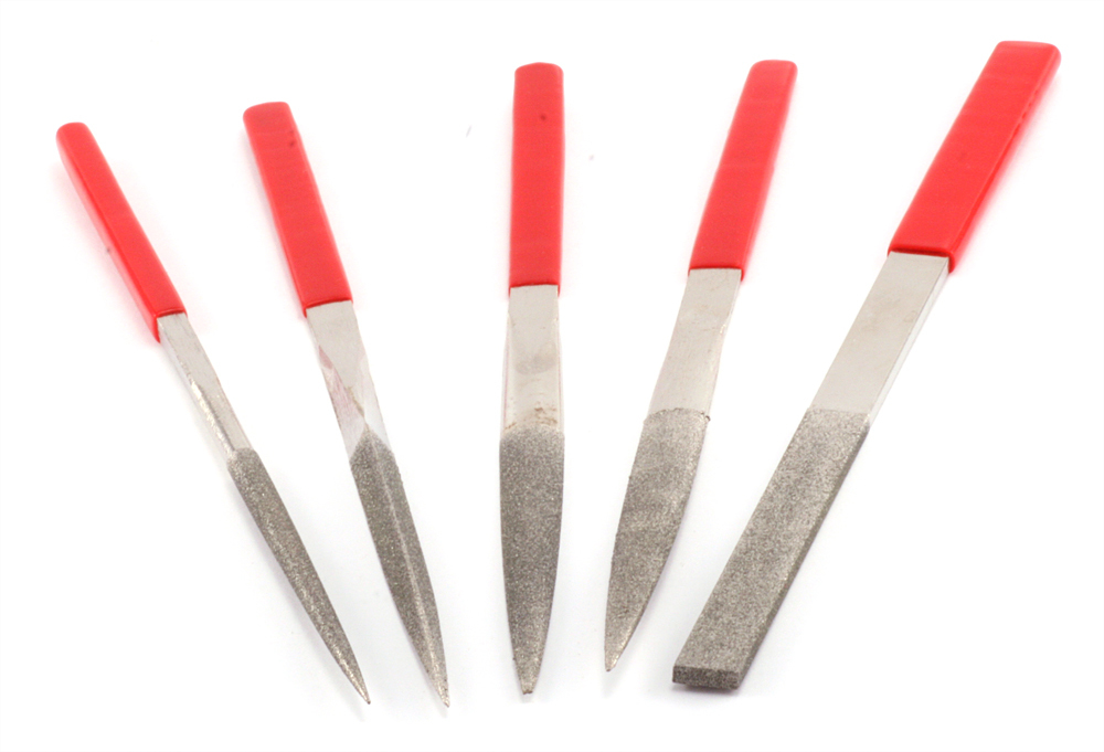 Jewelry Making Tools Large Diamond Files, Set of 5