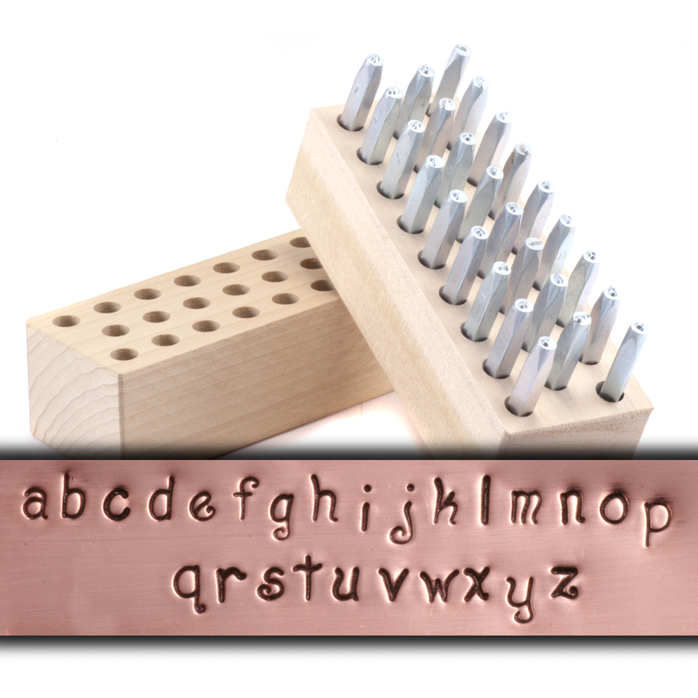 "Metal Stamping Tools Beaducation Script Lowercase Letter Stamp Set 1/8"" (3.2mm)"