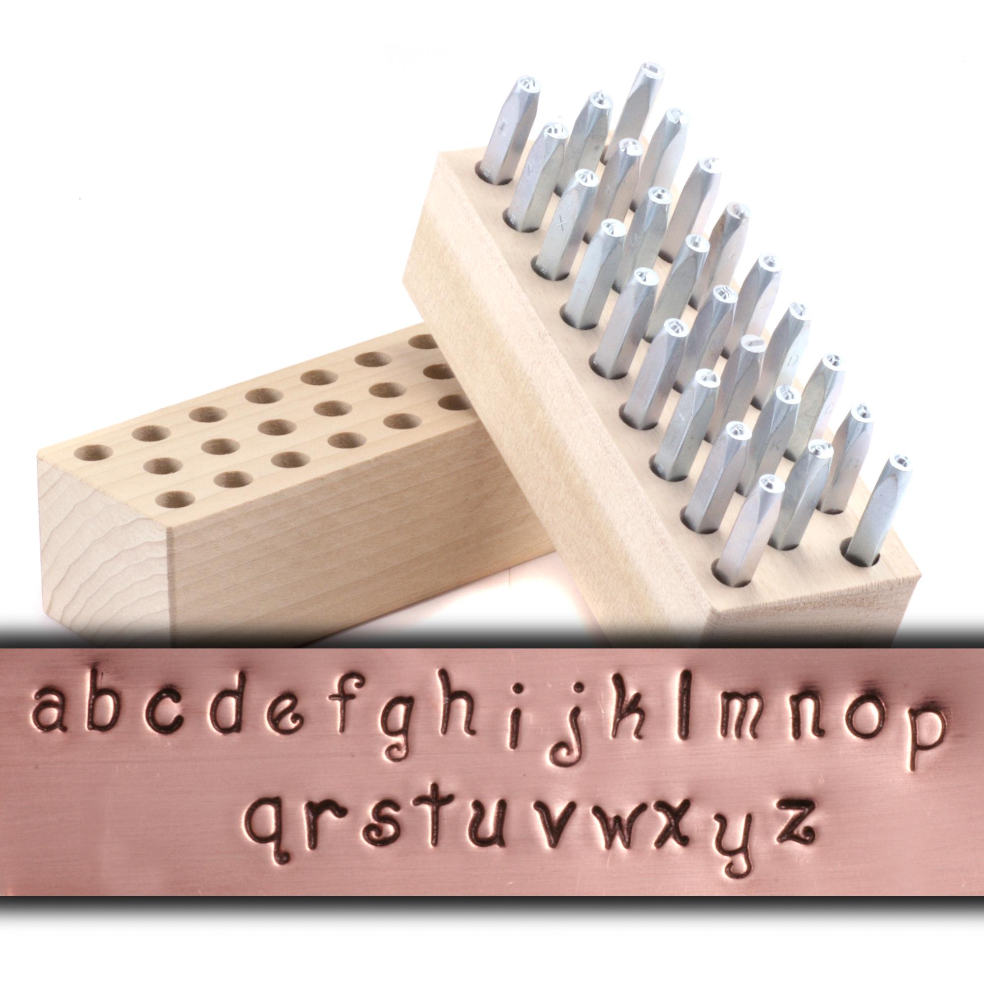 Metal Stamping Tools Beaducation Kismet Uppercase Letter Stamp Set 2mm