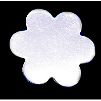 "Metal Stamping Blanks Sterling Silver Flower with 6 Petals, 19.5mm (.77""), 24g"
