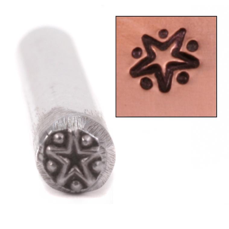 Metal Stamping Tools Glowy Star Design Stamp