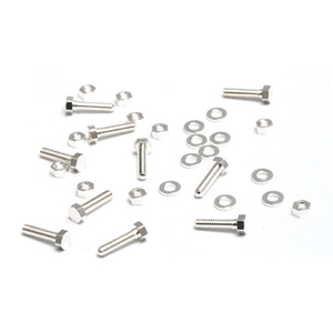"Rivets,  Findings & Stringing Mini Silver Plate Hex Nuts, Washers & Bolts, 1/4"", 10 sets"