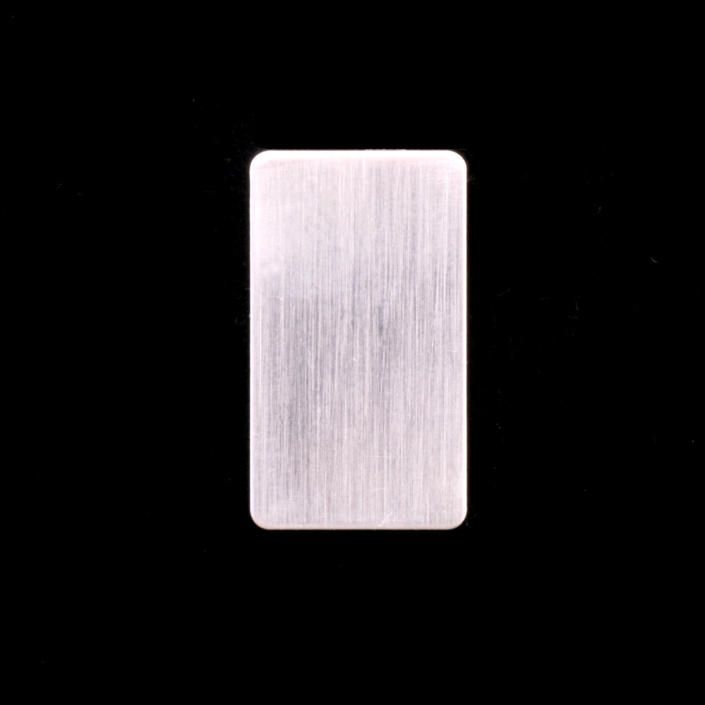 "Metal Stamping Blanks Sterling Silver Rectangle, 15mm (.60"") x 8.5mm (.33""), 24g"