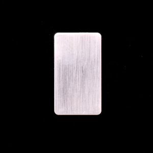 Metal Stamping Blanks Sterling Silver Rectangle (15mm x 8.5mm), 24g