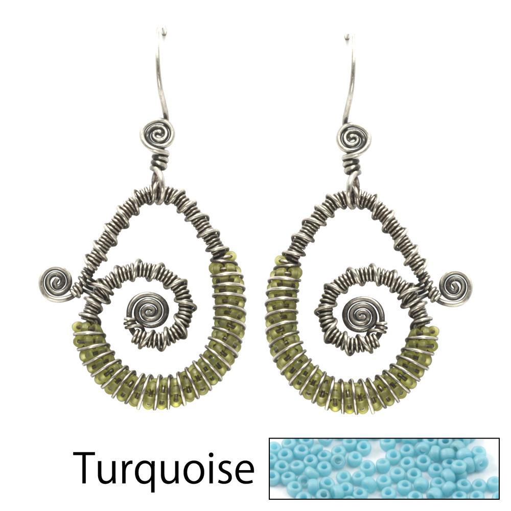 Kits & Sample Packs Continuum Earrings Kits - Turquoise