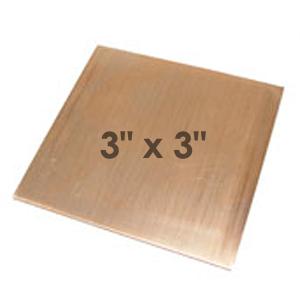 "Wire & Sheet Metal Copper 24 gauge Sheet Metal, 3"" x 3"" piece"